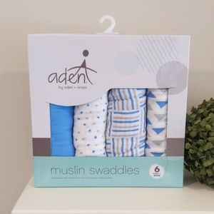 New! Aden & Anais Muslin Swaddle Blankets